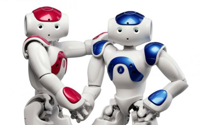 An image of two robots